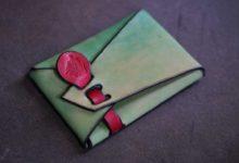 The SAI Cardcase ミント×レッド