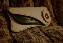The Lion's Back wallet ナチュラル×グリーン ダイヤモンドパイソンインレイ
