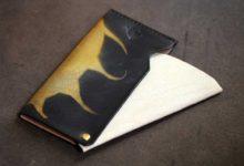 The Army Cardcase ブラック×ホワイト ゴールド