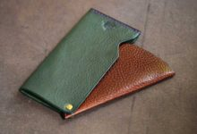 The Army Cardcase グリーン×ブラウン