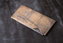 The Army Cardcase  鉄媒染色
