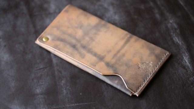 The Army Cardcase  鉄媒染色