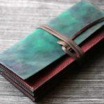 The Assassin Wallet ブルーグリーン×ワインレッド