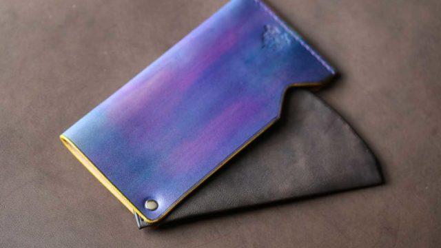 The Army Cardcase 紫+鉄染め
