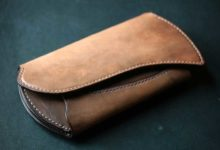 The Peafowl Wallet 鉄染め