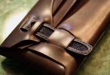 The Orikawa wallet ブラック エイ革インレイ