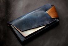 The Shark Orchestra Wallet ネイビー×光る銅
