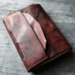 「Just」 Bookjacket ビンテージ加工 鉄染め+ワインレッド