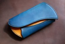 The Peafowl Wallet ブルー×イエロー
