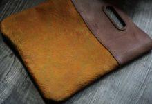 New York Clutch Bag クラックレザー×スミス