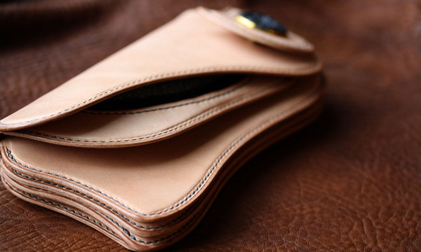The Lion's Back wallet ナチュラル エイ革インレイ