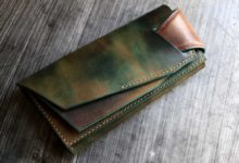 The Shark Orchestra Wallet  グリーン×ゴールド