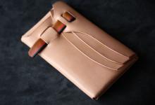 The Orikawa wallet ナチュラル×サンバースト