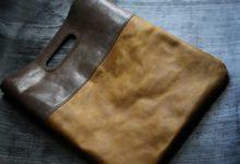 New York Clutch Bag リザード×イエローシュリンク