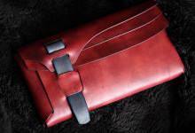 The Orikawa wallet レッド×ネイビー