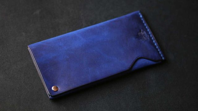 The Army Cardcase ブルー