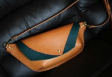 The Curve Shoulder Bag ナチュラル×ブルー