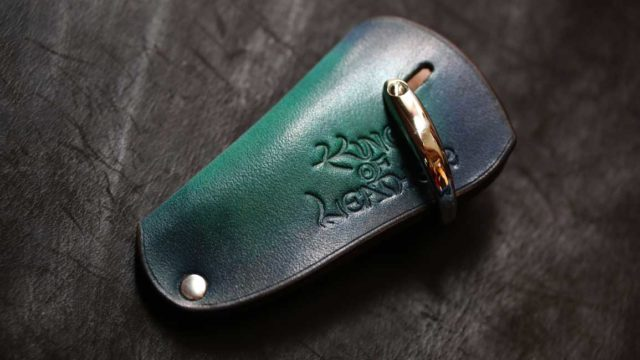 The drop of a palm Keycase ネイビー×グリーン