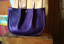 The Luna Buffalo Bag エルバマットシボ バイオレット