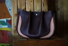 The Luna Buffalo Bag エルバマットシボ ブラウン×ナチュラル