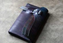 The Orikawa Wallet ブラックブルー陰影