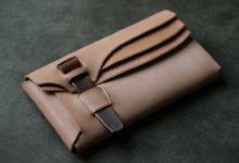The Orikawa Wallet ナチュラル×銅ベルト