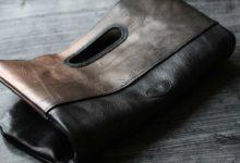 New York Clutch Bag ブラック×銅