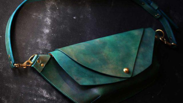 The Curve Shoulder Bag ブルーグリーン