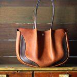 The Luna Buffalo Bag ベージュ×グレー