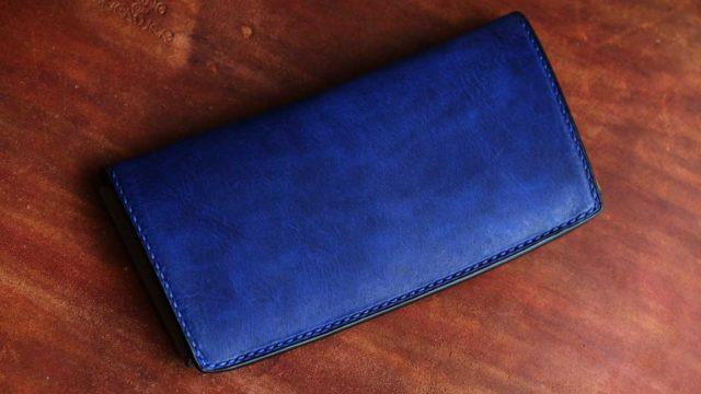 The Yaiba Wallet ブルー×ブッテーロ