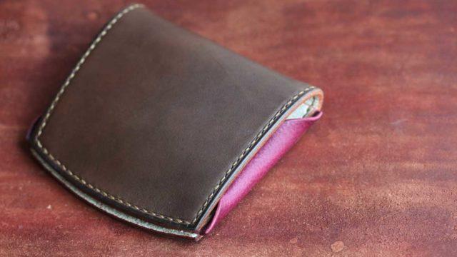 The Yaiba Wallet エルバマットグレー×シボピンク×オールドキャニオンホワイトレザー