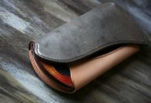 The Peafowl Wallet シルバー×ナチュラル×サンバースト エイ革インレイ