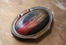 The Saturn Key Case レインボー×アラスカレザー