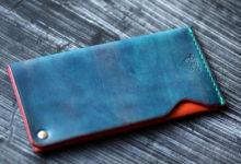 回転式カードケース ブルー×オレンジ
