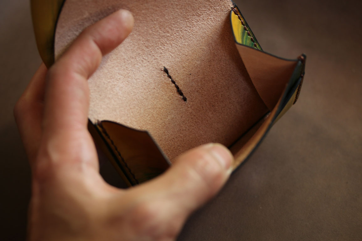 イエローコンパクト財布