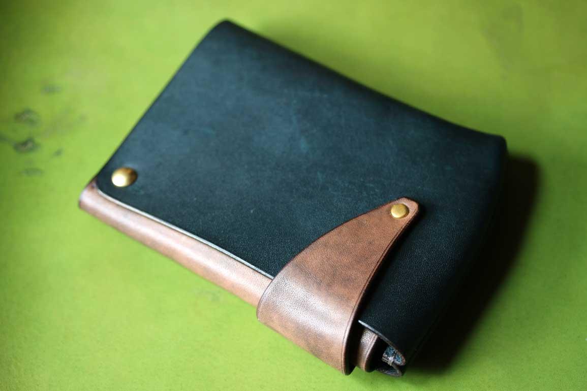 エルバマット鉄染め回転財布