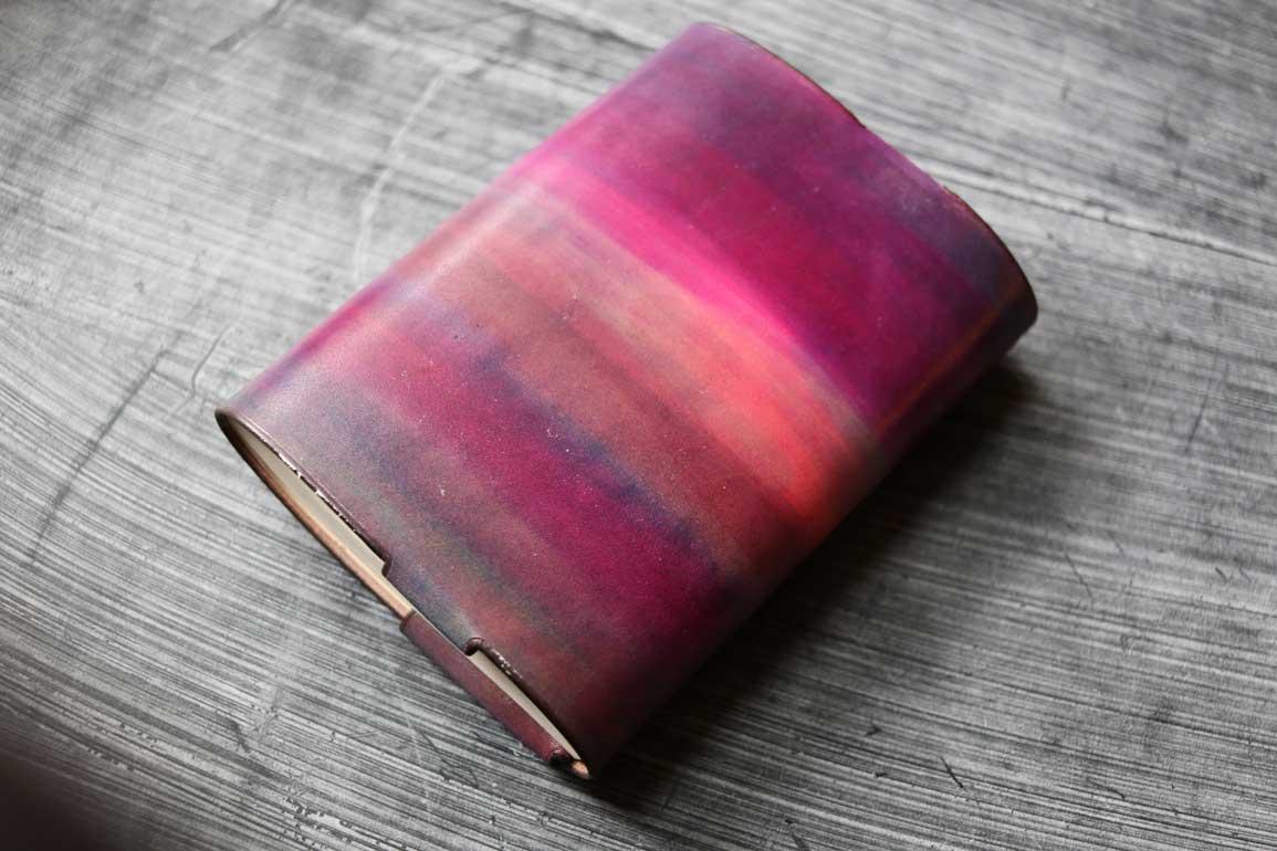 紫ピンクブックカバー