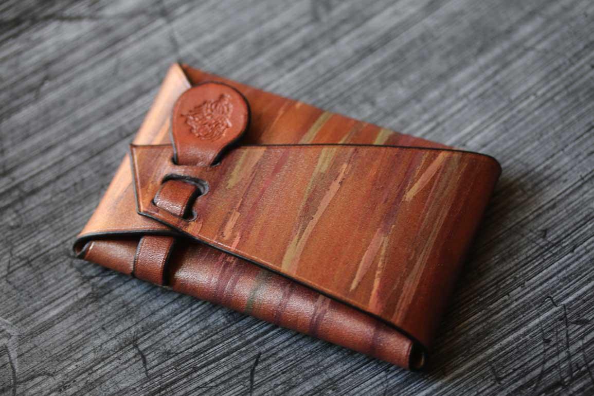 シームレスカードケース銅