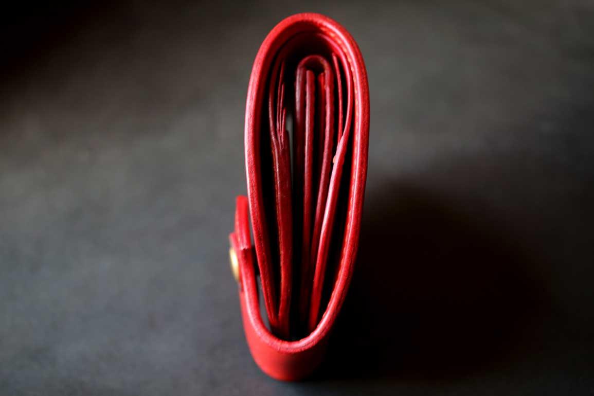 エルバマット丸型赤財布