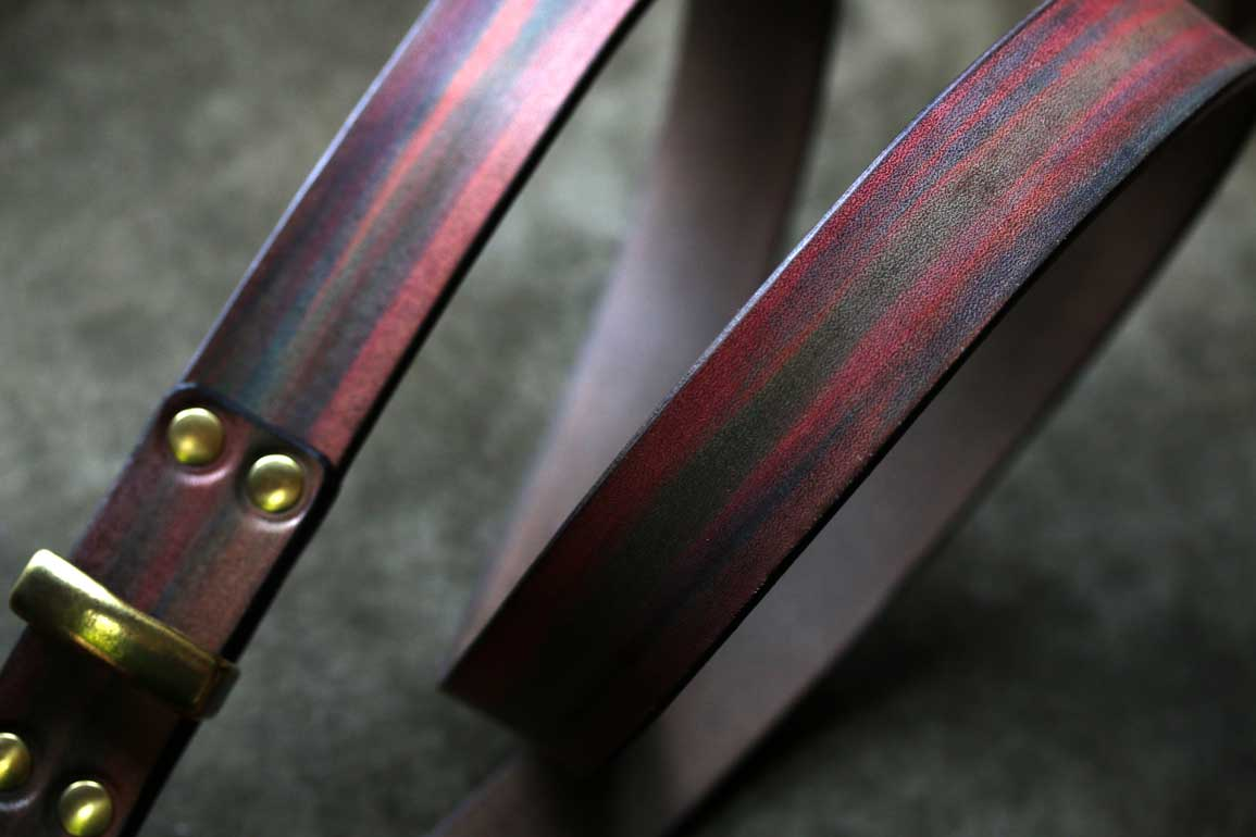 革染色30ミリ幅ベルト
