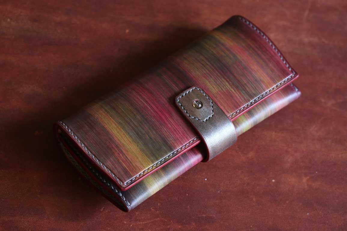 革染色ルチルクウォーツ財布