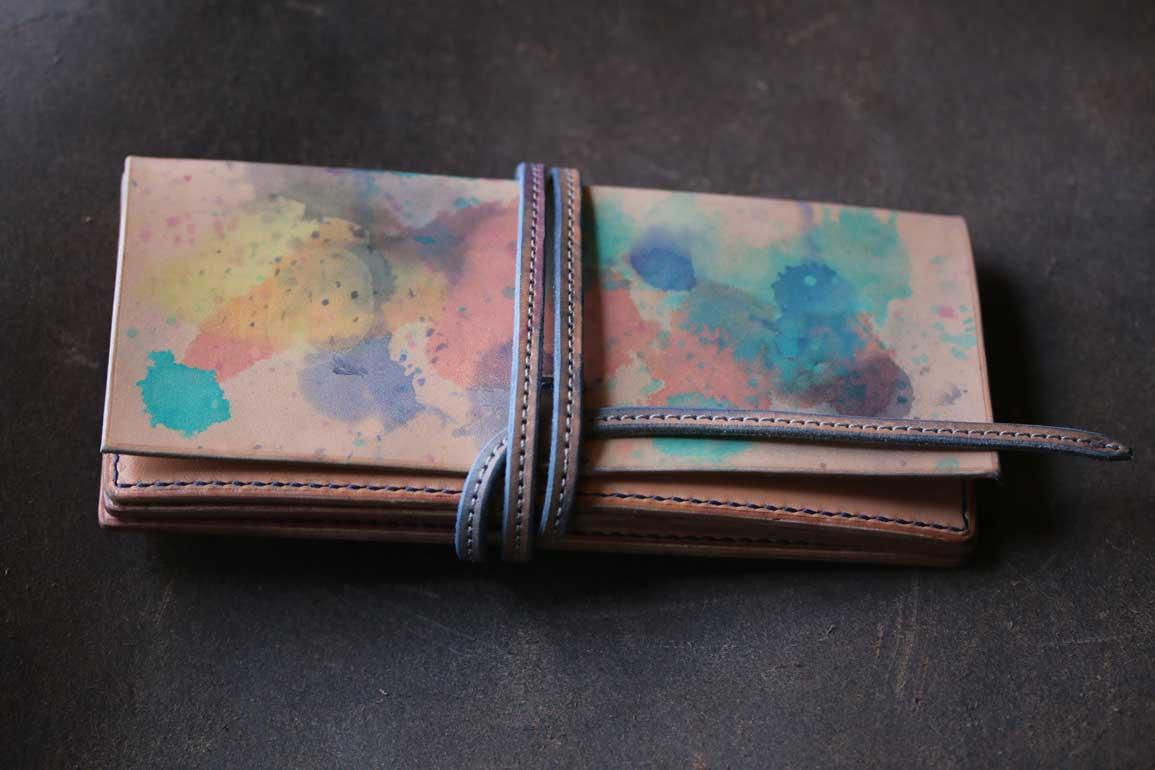 カラフル紐財布