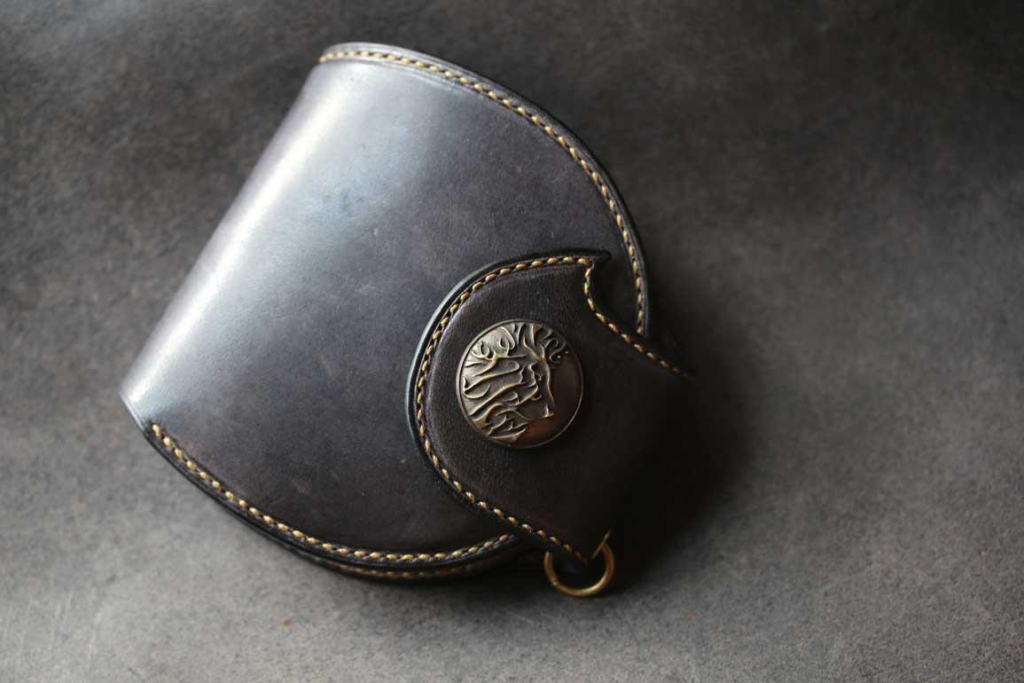 鉄媒染色丸型ウォレット