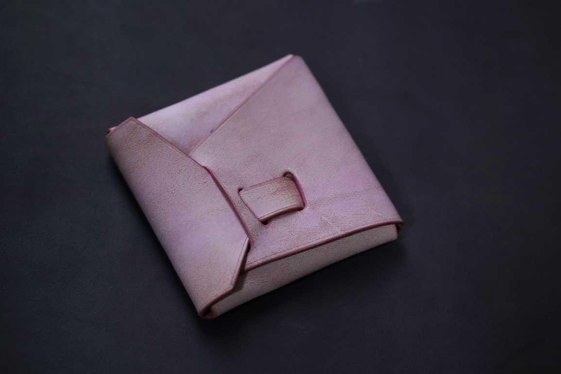 ピンクシームレスコインケース