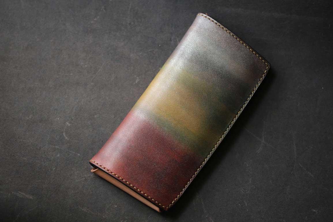 金銀銅レザー長財布