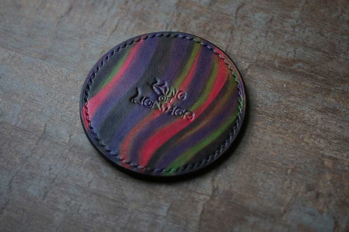 染色レザーコースター