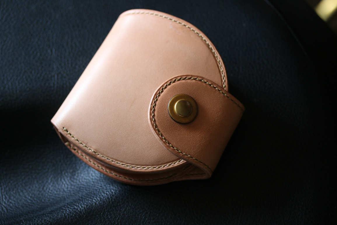 丸財布ヌメ革